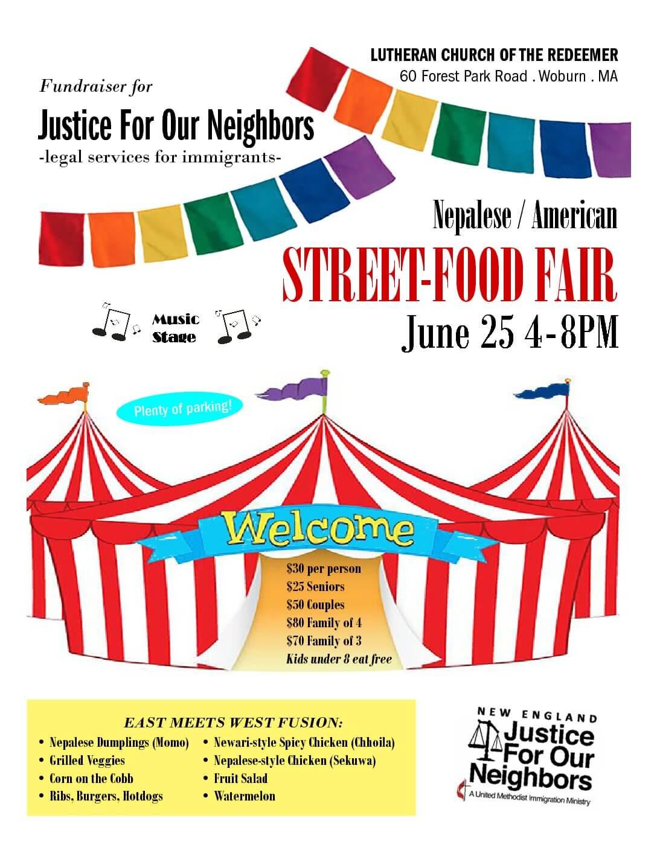Street-food Fair Fundraiser